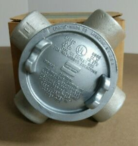 Crouse Hinds Guax36 1 Conduit Junction Outlet Box Explosion Proof