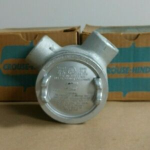 Crouse Hinds Gual36 1 Conduit Junction Outlet Box Explosion Proof