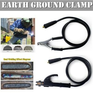Welding Earth Clamp Cable 300a 1 5m Welder Ground Cable For Arc Mma Dc Inverter