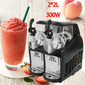 Frozen Drink Slush Making Machine Slushy Juice Smoothie Maker 4l Us Plug