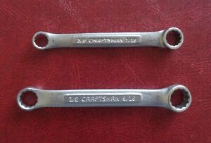 2 Craftsman Stubby Double Box End Wrenches Made In Usa 2 Item Lot