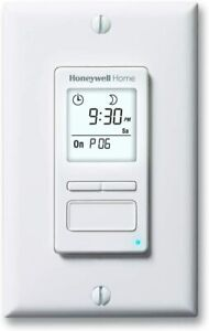 Honeywell Home Econoswitch 7 day Programmable Light Switch Timer White