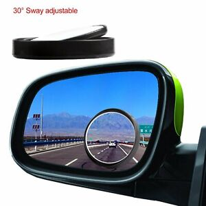 2pcs 360 Wide Angle Convex Rear Side View Blind Spot Mirror Car Auto Universal