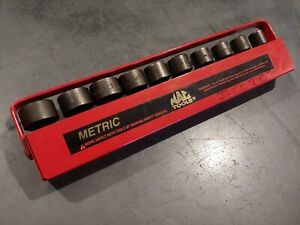 Mac Tools 3 8 10 19mm Swivel Impact Socket Set Usa Made