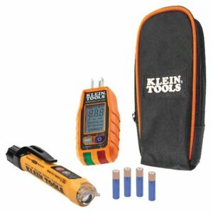 Klein Tool Non contact Voltage Tester And Gfci Receptacle Electrical Test Kit