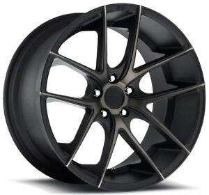 4 niche M130 Targa 20x8 5 5x115 38mm Black machined tint Wheels Rims 20 Inch