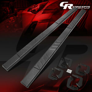 Pair 5 Flat Step Nerf Bar Running Board For 2007 2021 Toyota Tundra Crewmax Cab