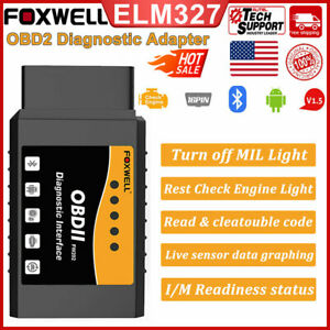 Elm327 Bluetooth Obd2 Code Reader Scanner Auto Check Engine Car Diagnostic Tool