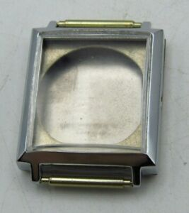 Nos Fond Acier Watch Case Minty Watch Parts For Repair Watchmakers P r W6