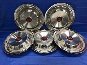 Vintage Set Of 5 1955 Buick 15 Hubcaps Century Special
