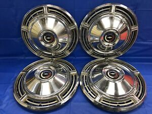 Vintage Set Of 4 1968 Chevrolet 14 Hubcaps Chevelle Malibu