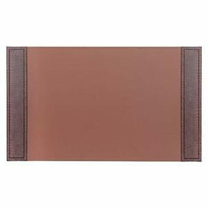 Dacasso Crocodile Embossed Leather Desk Pad 34 X 20 Brown