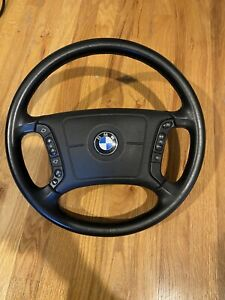 Bmw E46 Steering Wheel With Black Leather Oem