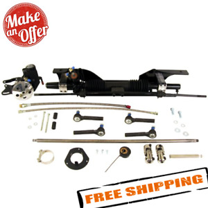 Unisteer 8010820 01 Power Rack Pinion Kit For Early 1967 Mustang Small Block