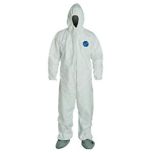 Dupont Tyvek Coverall Zip Ft Hd Skid Resistant Ty122swhlg002500 1 Each
