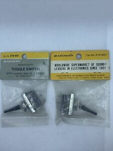 Vintage Archer Toggle Switches 6 Amp 250 Vac Dpdt Spst 275 651 275 651 Nos New