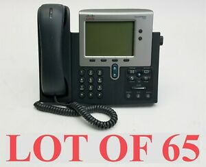 Cisco 7942 Cp 7942g Unified Ip Voip Office Business Phone W handset Lot 65