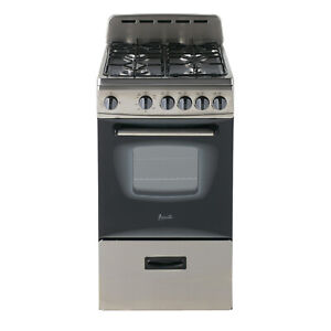 Avanti 20 Inch 2 1 Cubic Ft Natural Gas Kitchen Oven W 4 Burners Black used