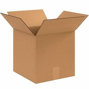Corrugated Shipping Box Kraft Shipping Packing 12 X 12 X 12 In Mailers 25 Pack