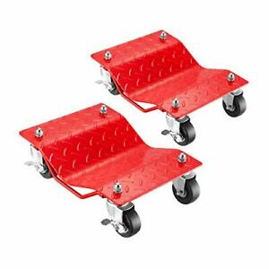 5050 Pentagon Tool Premium 2 pack Car Tire Dolly Tire Skates Red
