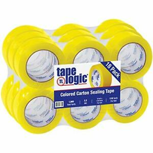 Tape Logic 2 Inch X 110 Yard 2 2 Mil Yellow Heavy Duty Colored Packing Tape 1