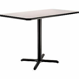 Interion Counter Height Restaurant Table 48 lx30 wx36 h Gray 695850gy 1