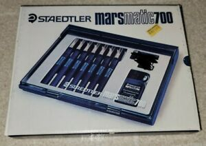Staedtler Marsmatic 700 7 Pens Ink Technical Drawing Set Mars Matic New In Box
