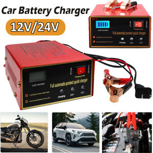 Car Maintenance Free Battery Charger 12v 24v 10a 140w Intelligent Pulse Repair