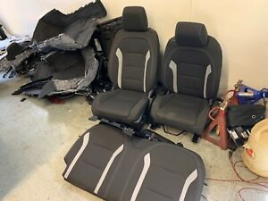 2021 Chevrolet Camaro Cloth Front And Rear Seats Black New Takeoff