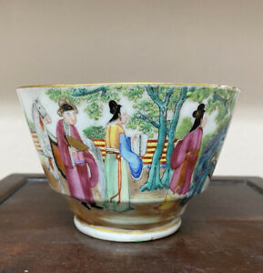 Fine Antique Chinese Daoguang Rose Medallion Large Cup