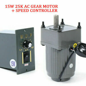 Ac 110v Geared Motor 1 25 Single phase Gearmotor W variable Speed Controller