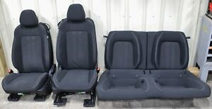 2019 Ford Mustang Gt Black Cloth Seat Set Used Oem