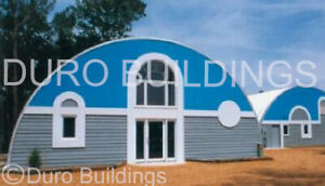 Durospan Steel 33 x40 x15 Metal Quonset Diy Home Building Kits Open Ends Direct