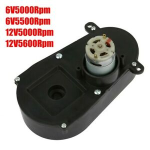 Electric Motor Rs380 Gear Box Steering Gearbox Low noise For Kids Car 6v5000rpm
