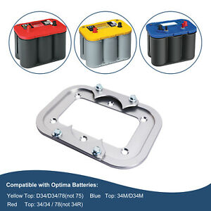 Optima Battery Billet Battery Relocation Trays Hold Down For Red Yellow Blue Top