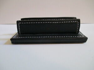 Coach Business Card Holder Leather Desk Desktop Weighted Black Classic Guc