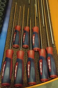 Snapon Tools Red White Blue Long Cabinet Screwdriver Set Instinct
