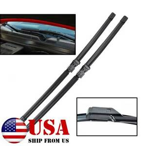 2x Front Windshield Wiper Blades For Ford Kuga Mk1 2008 2012 Rubber Refill