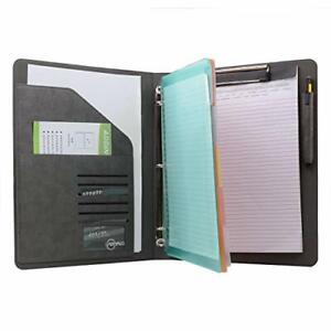 Binder Portfolio Organizer With Color File Folders Business And Interview Pad
