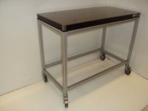 Crated Newport 2 X 4 Optical Breadboard Table T slot Roll around Bench