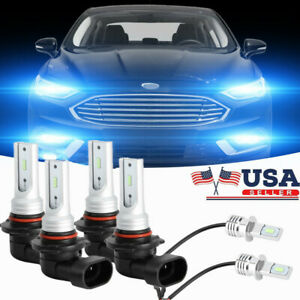 Led Headlights Fog Light Kit For Gmc Pickup Truck C k 1500 2500 3500 1997 2000