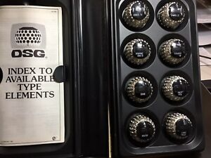 Selectric Ii Element Balls Set Of 8 New And All Guaranteed Index