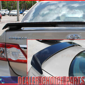 For 2009 2011 2012 2013 Toyota Corolla Factory Style Spoiler Painted Gloss Black