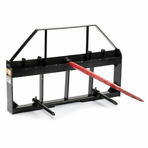 Titan 48 Skid Steer Pallet Fork Frame With 49 Hay Spears And Stabilizers