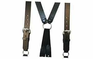 9175 Leather Firefighter Suspenders