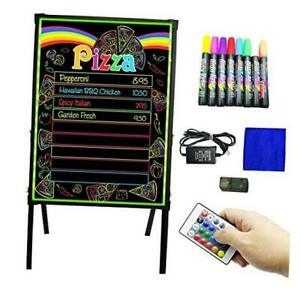 Led Message Board Standing Led Signs 32 X 24 Menu Board With Adjustable