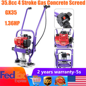 1 36 Hp 4stroke Gas Concrete Wet Screed Power Vibrating Screed Cement 1 6m Blade