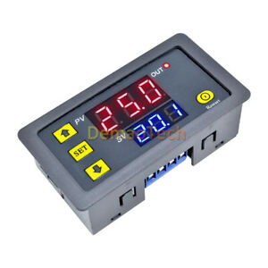 12v Thermostat Cycle Timer Delay Dual Display Relay Module 0 999 Hours