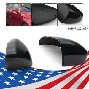 Driver Passenger Side Rearview Mirror Cover Cap For 2013 2018 Ford Fusion