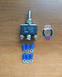 Bbt Heavy Duty 3 Pos 6 Terminal Momentary Toggle Switch W Connectors